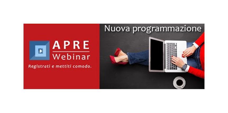 (Italiano) APRE Webinar: Nuova Programmazione (Maggio-Luglio)