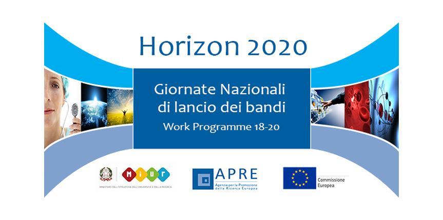Elenco degli Info Day relativi alla presentazione dei Bandi/WP HORIZON 2020